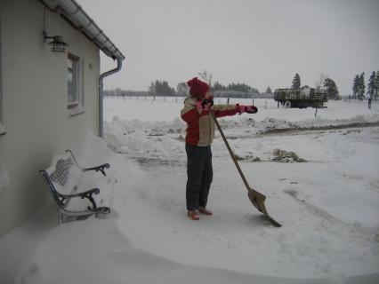 Pernille i sne