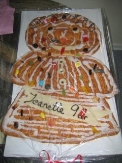Kage til Jeanettes 9 års fødselsdag