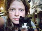 Pernille og en kat