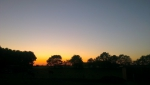 Solnedgang over Sangild 2012-05-27