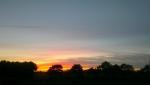 Solnedgang over Sangild 2012-05-28